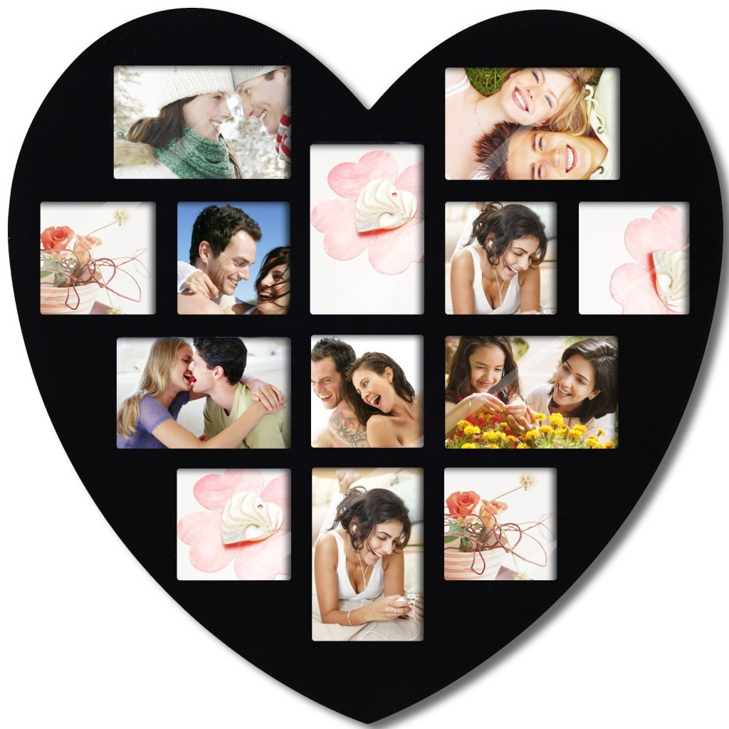 heart shape picture frame