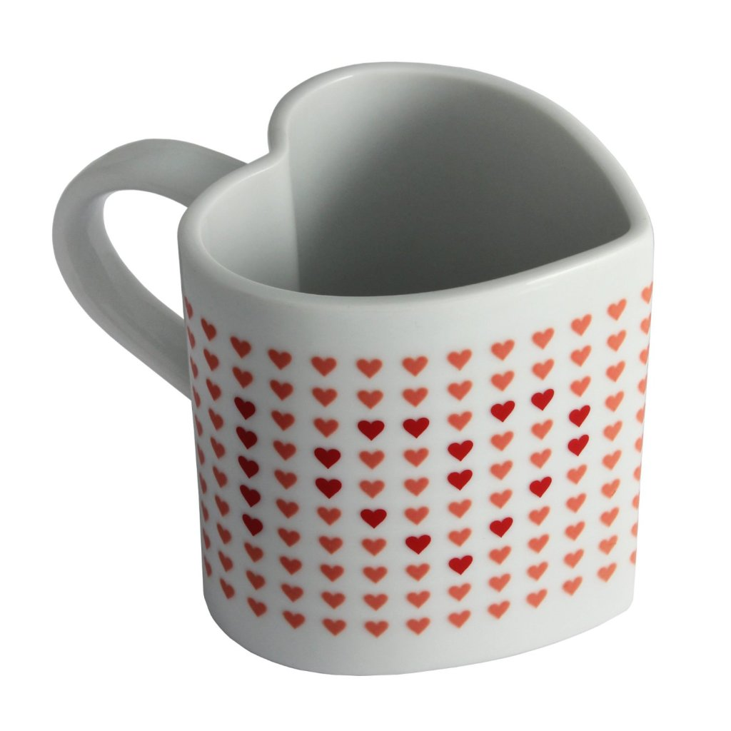 Fun Heart Shaped Love Mug