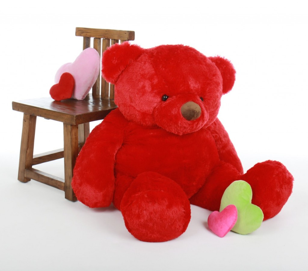 giant red teddy bear
