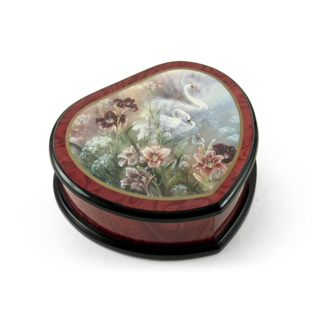 Beautiful Heart Shape Painted Musical Box