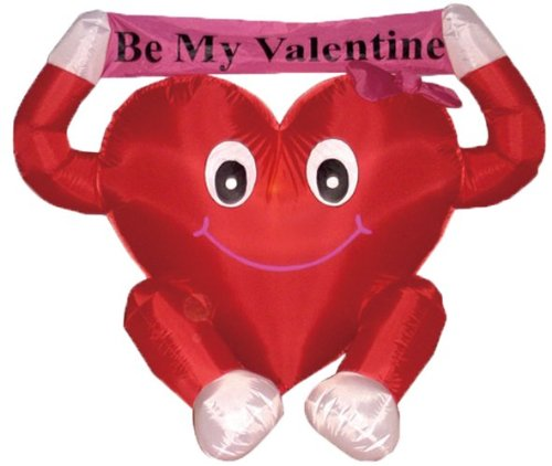 giant inflatable red heart