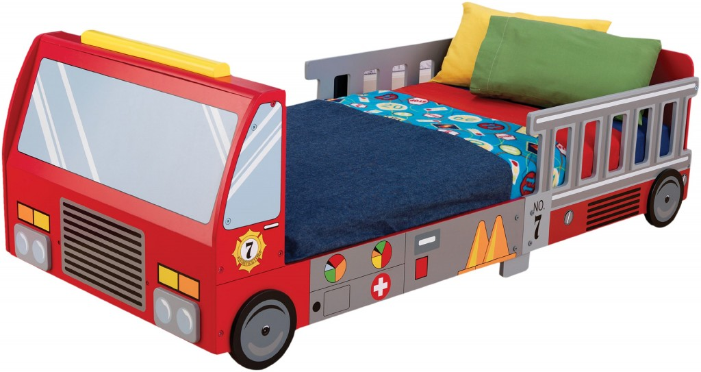 cute fire truck bed for toddler boys