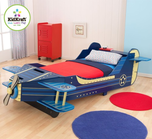 airplane shaped toddler bed