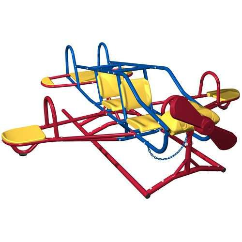 Fun and Colorful Airplane Teeter Totter