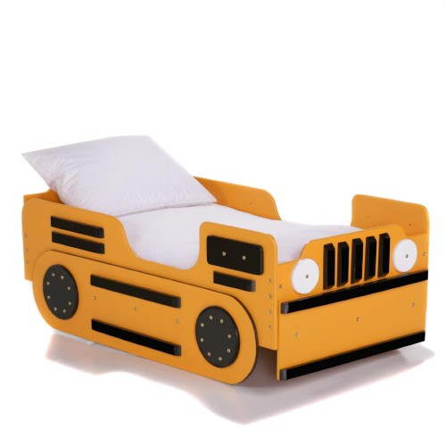 yellow bulldozer toddler bed