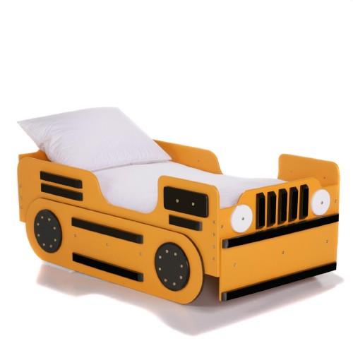yellow bulldozer toddler bed