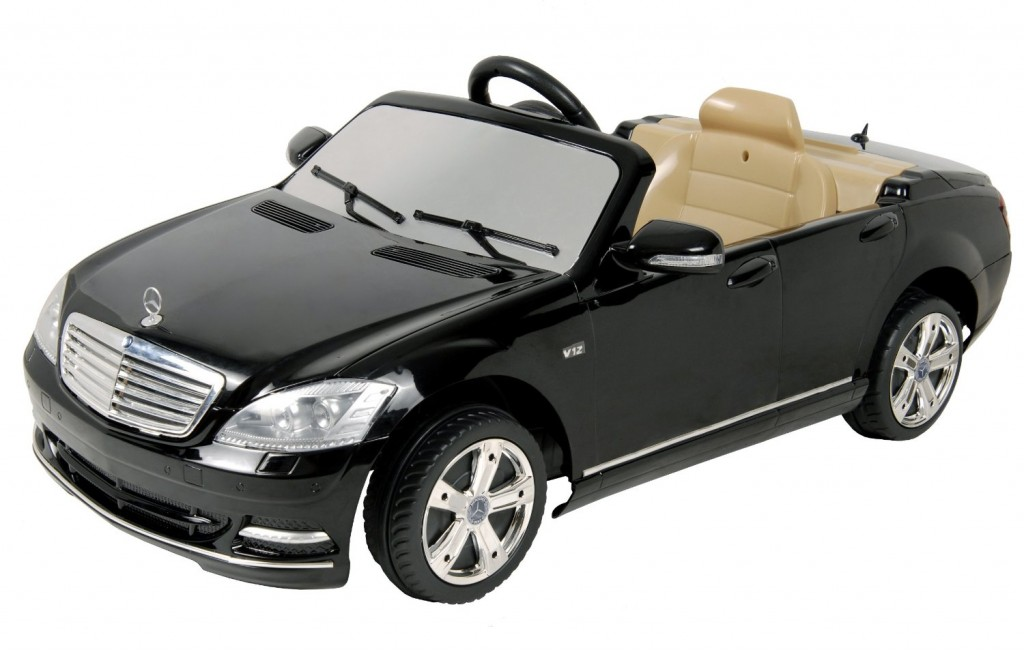 fancy black mercedes benz ride on electric car for kids