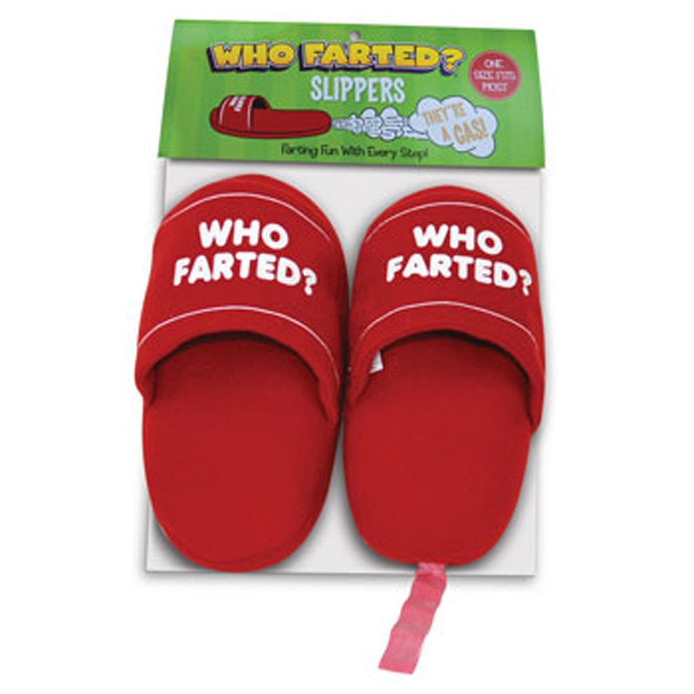 funny Who Farted Slippers