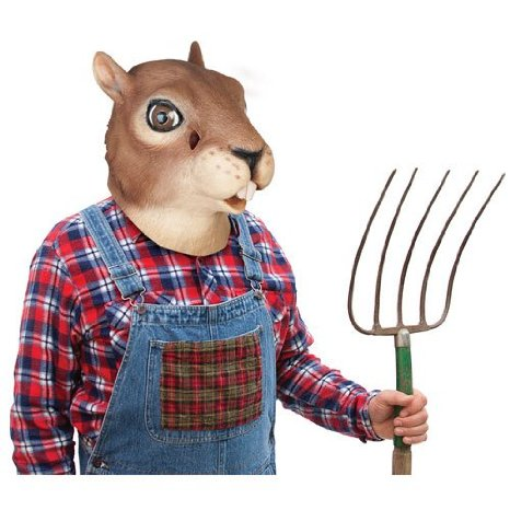 hilarious squirrel head mask