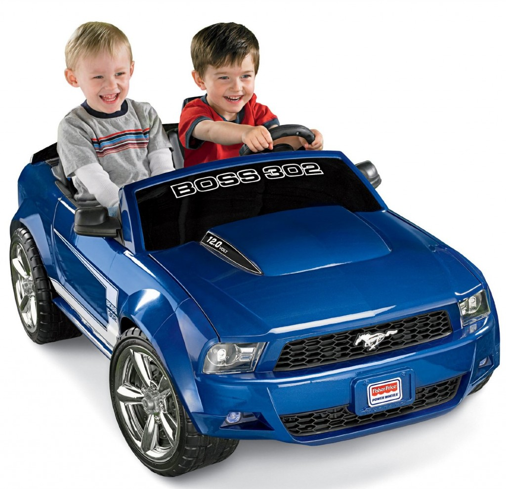 electric car for boys blue Mustang