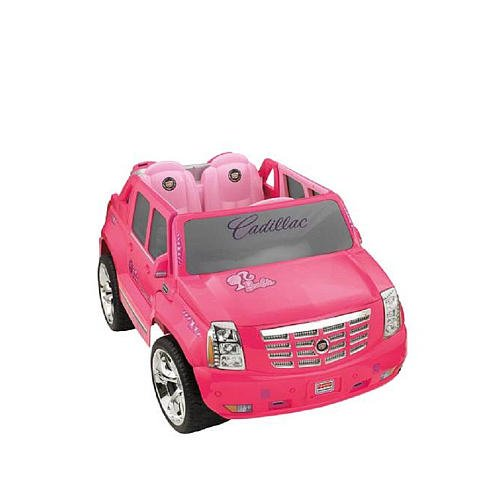 PINK Barbie Cadillac Hybrid Escalade Electric Car for Girls