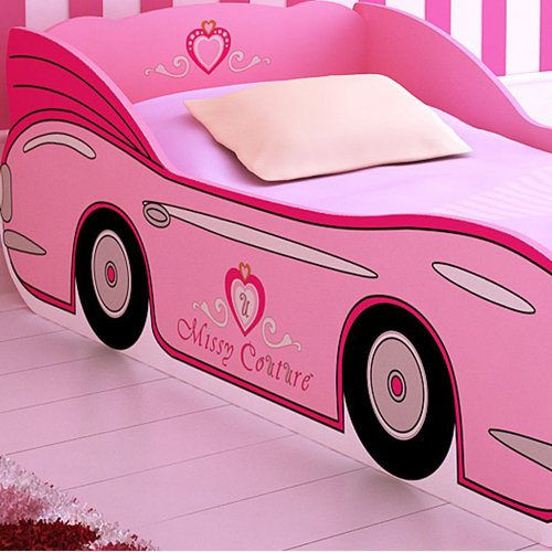 pink car bed for girls