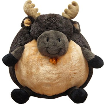 moose round pillow animal
