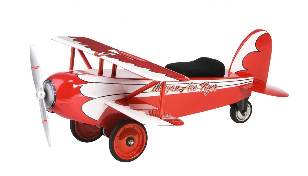 cute red pedal plane for toddlers