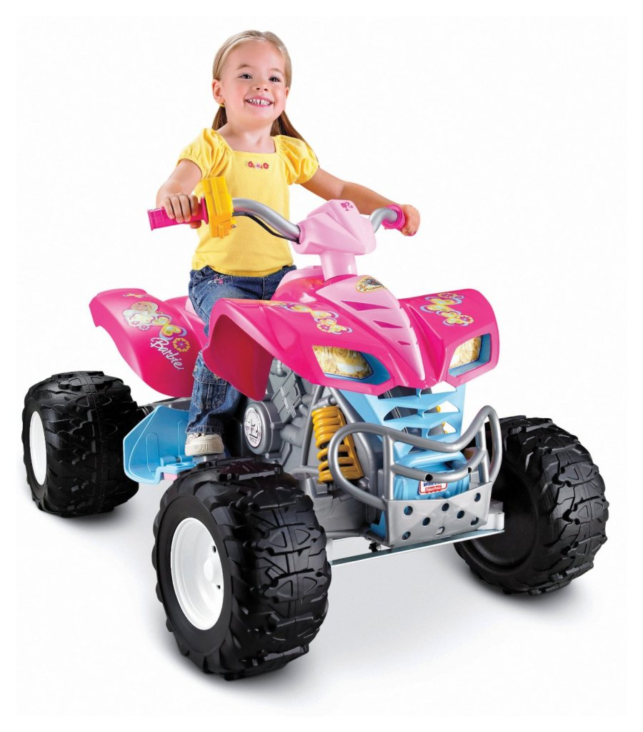 Barbie quad for girls to ride