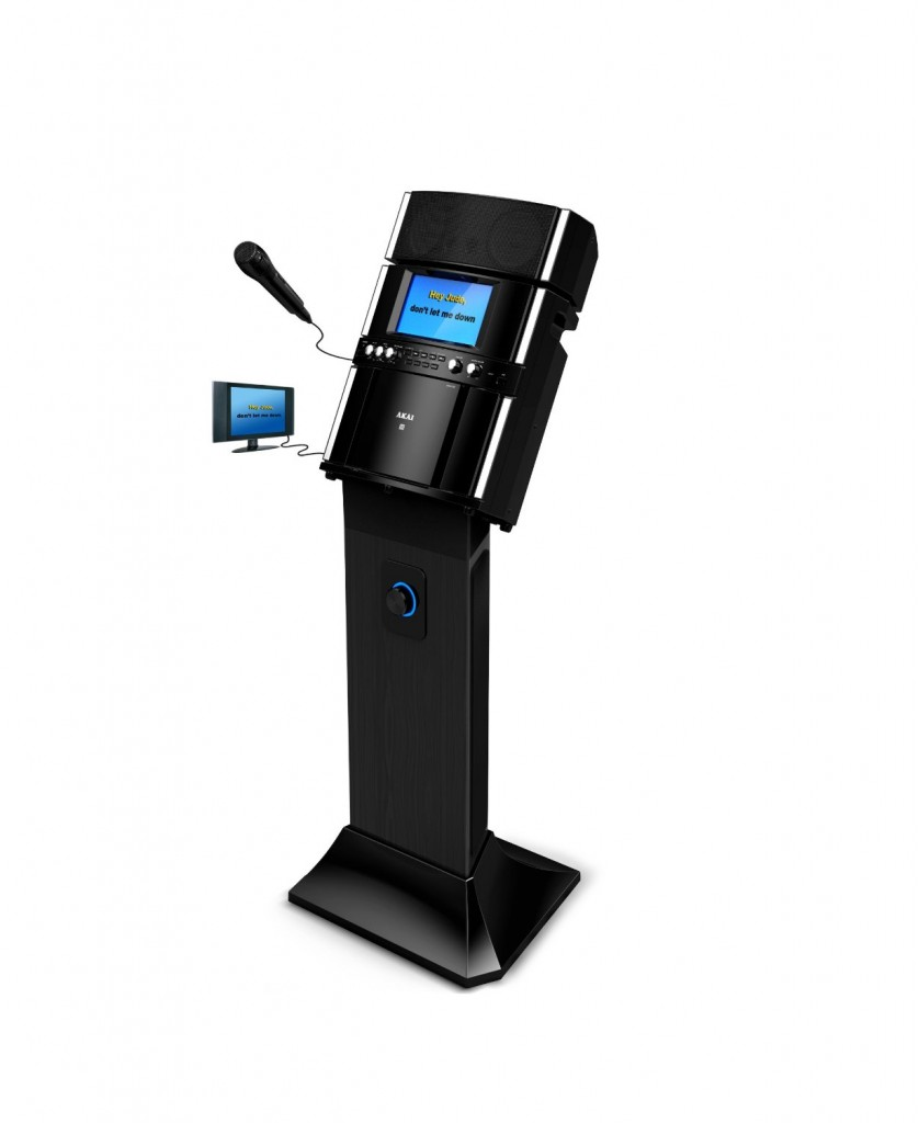 karaoke machine with pedestal