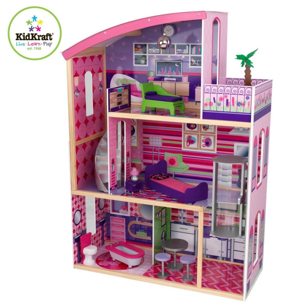 Kidkraft Wooden Modern Dream Glitter Dollhouse