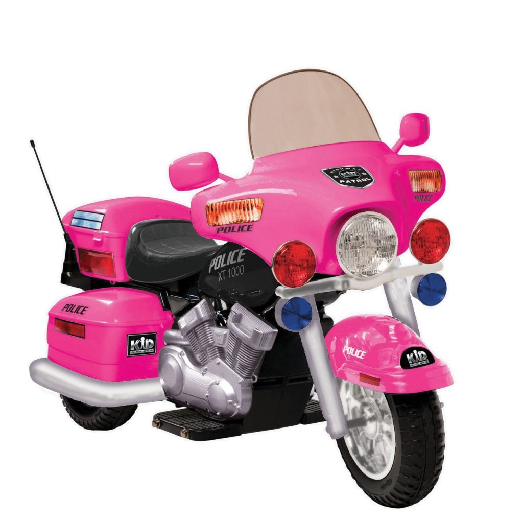 Pink Police Motorcycle for Girls