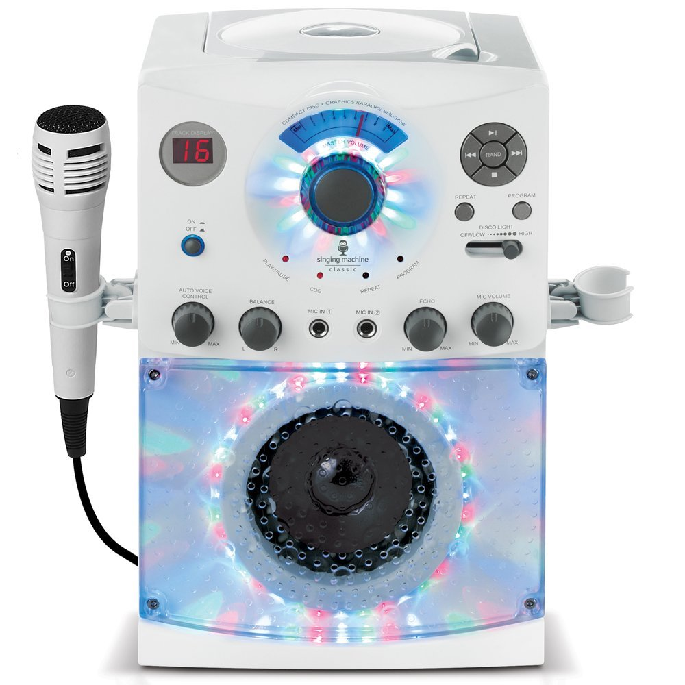 Portable Karaoke Machine for Kids with Disco Lights