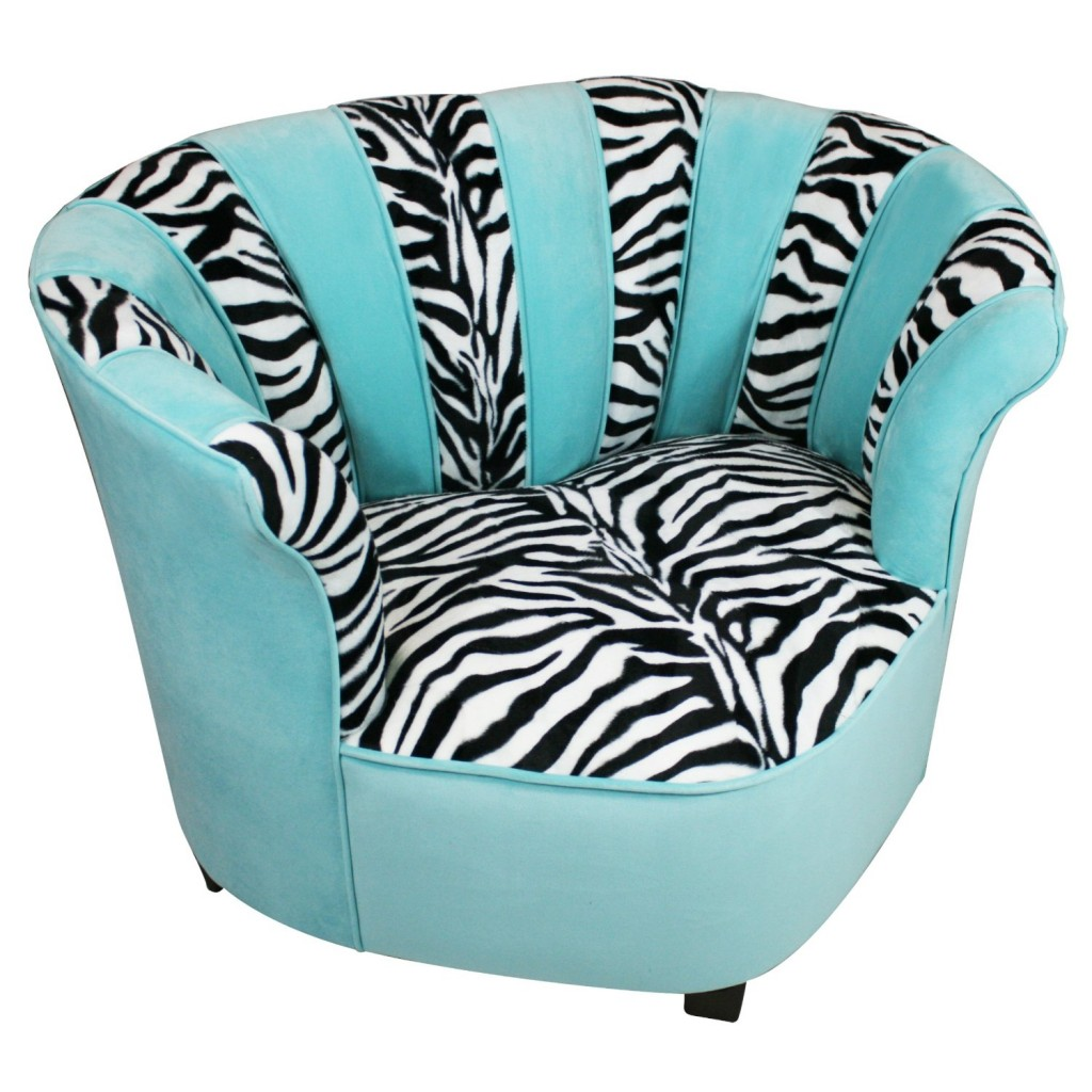 Cool Chair For Tweens In Funky Zebra Pattern