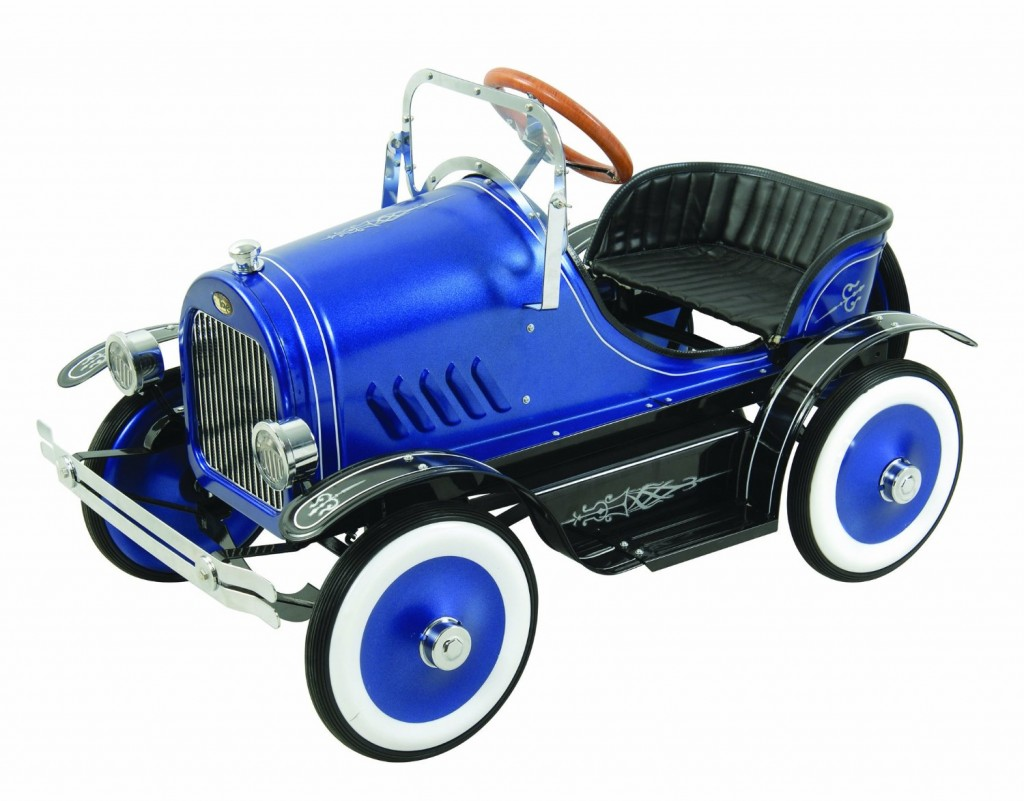 Blue Roadster Classic Pedal Car Blue