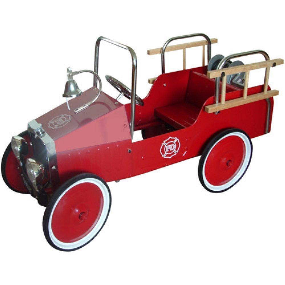 classic fire truck pedal car
