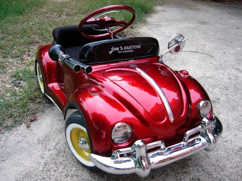 red beetle pedal car