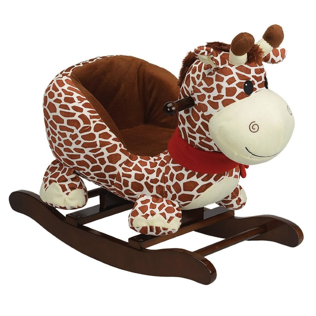 Plush Giraffe Rocker