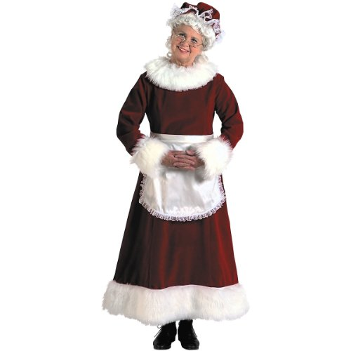 elderly Mrs. Santa Claus costume