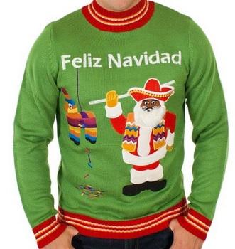 Men's Feliz Navidad Ugly Christmas Sweater