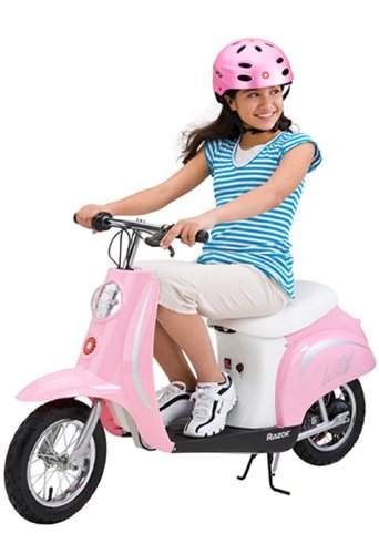 cool pink electric scooter for girls
