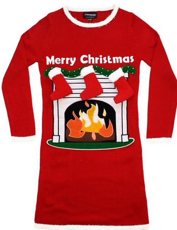 Women's Fireplace Very Cool Lighted Christmas Sweater