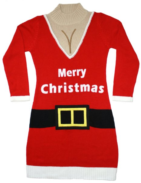 Santa Suit Naughty Sweater Dress