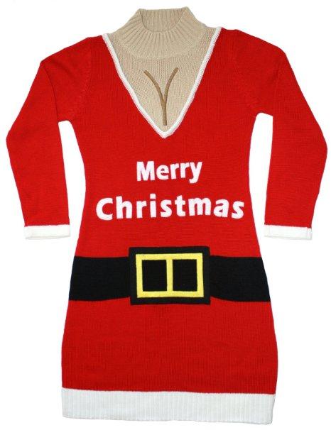 Santa Suit Naughty Sweater Dress