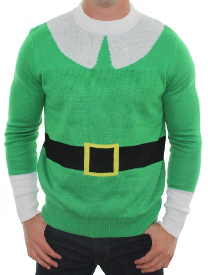 green elf Christmas sweater