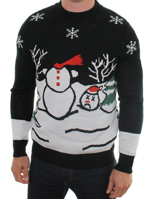 Headless Frosty the Snowman Sweater