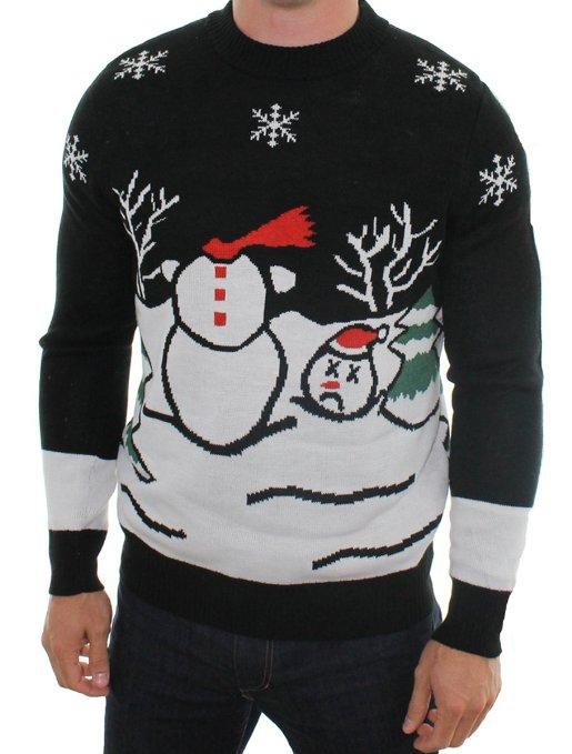 Headless Frosty the Snowman Sweater