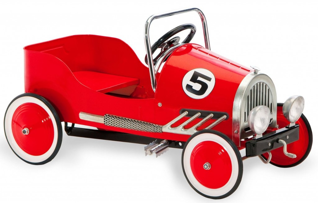 Retro Style Pedal Car, Red
