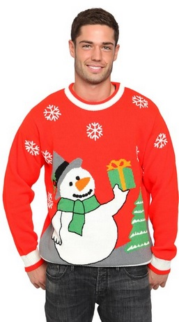 Snowman Christmas Sweater RED