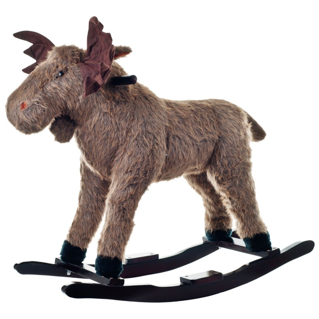 moose plush rocker for kids