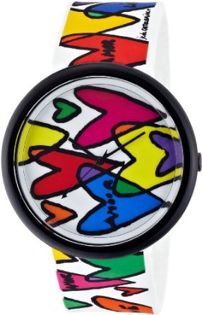 colorful happy hearts watch