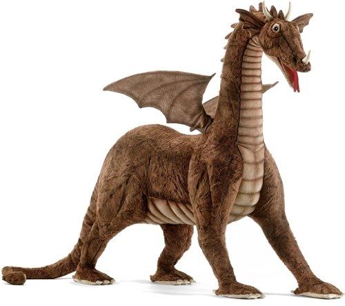 Hansa Great plush Dragon Ride-On - Brown