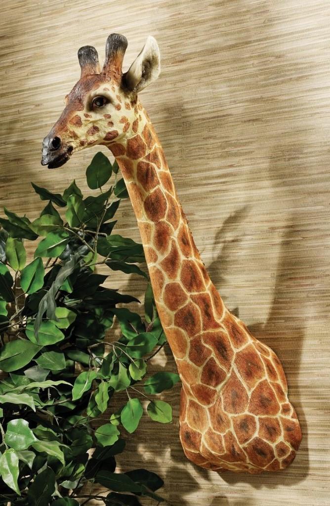 African Giraffe Trophy Wall Sculpture