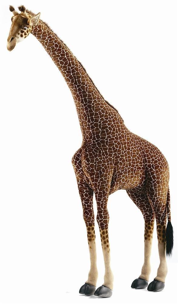 Large Life Size Standing Giraffe Plush Stuffed Animal