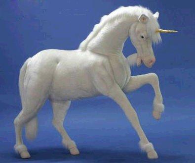 life size plush unicorn