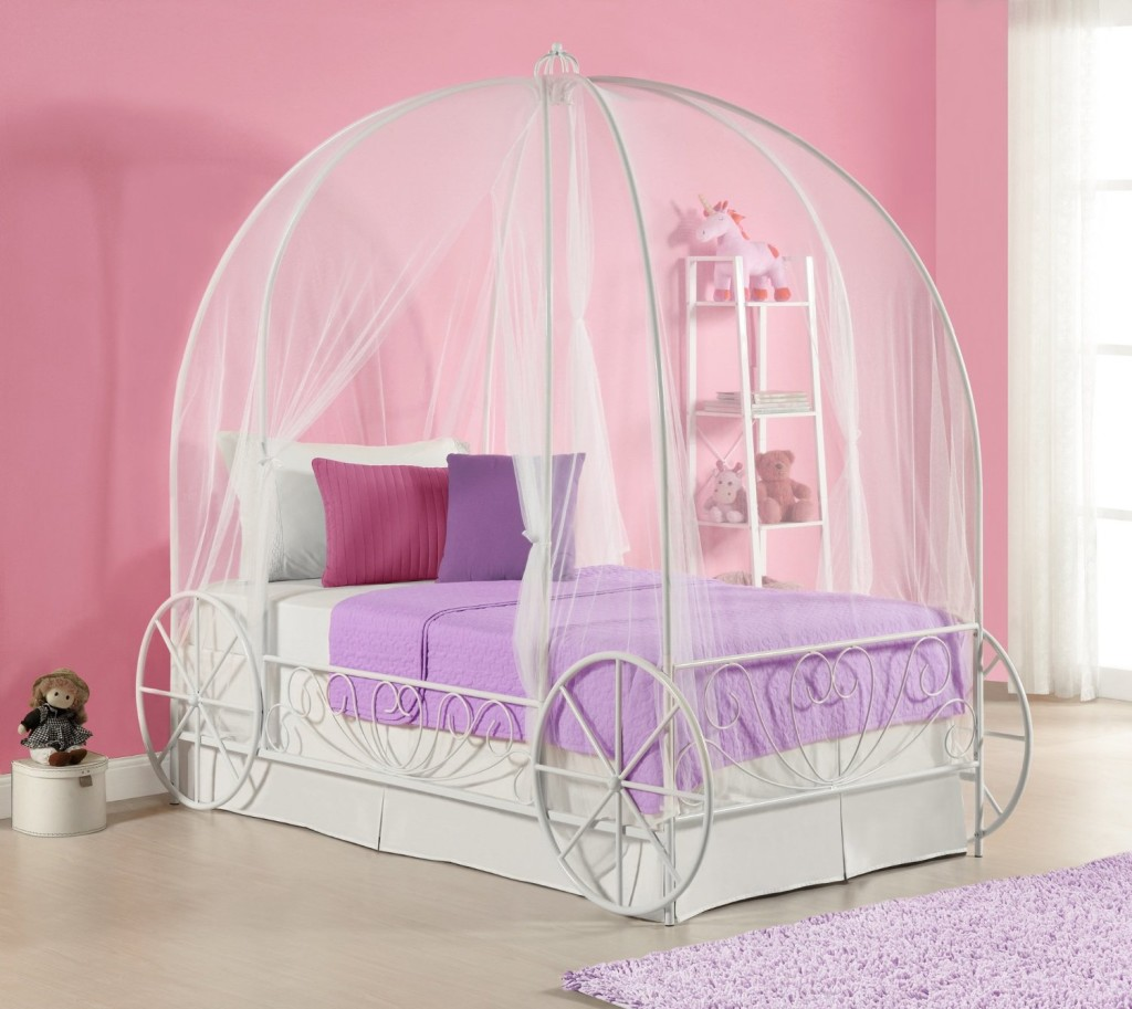 Cute Carriage Bed for Girls