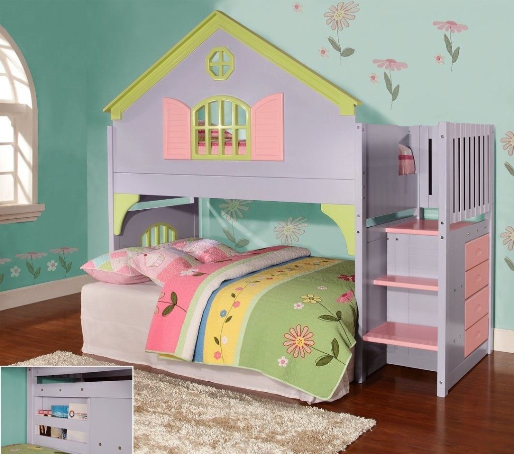 Twin Doll House Stair Step Loft Bed