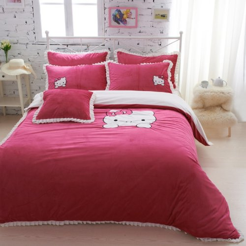 pink Hello Kitty Bedding Set