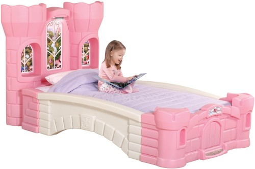 cute pink princess palace bed