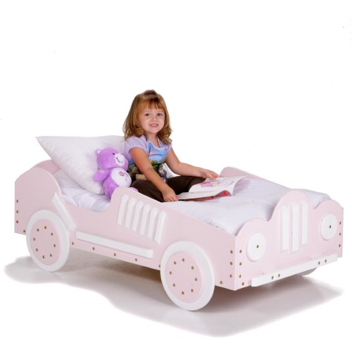 Pink Race Car Toddler Bed